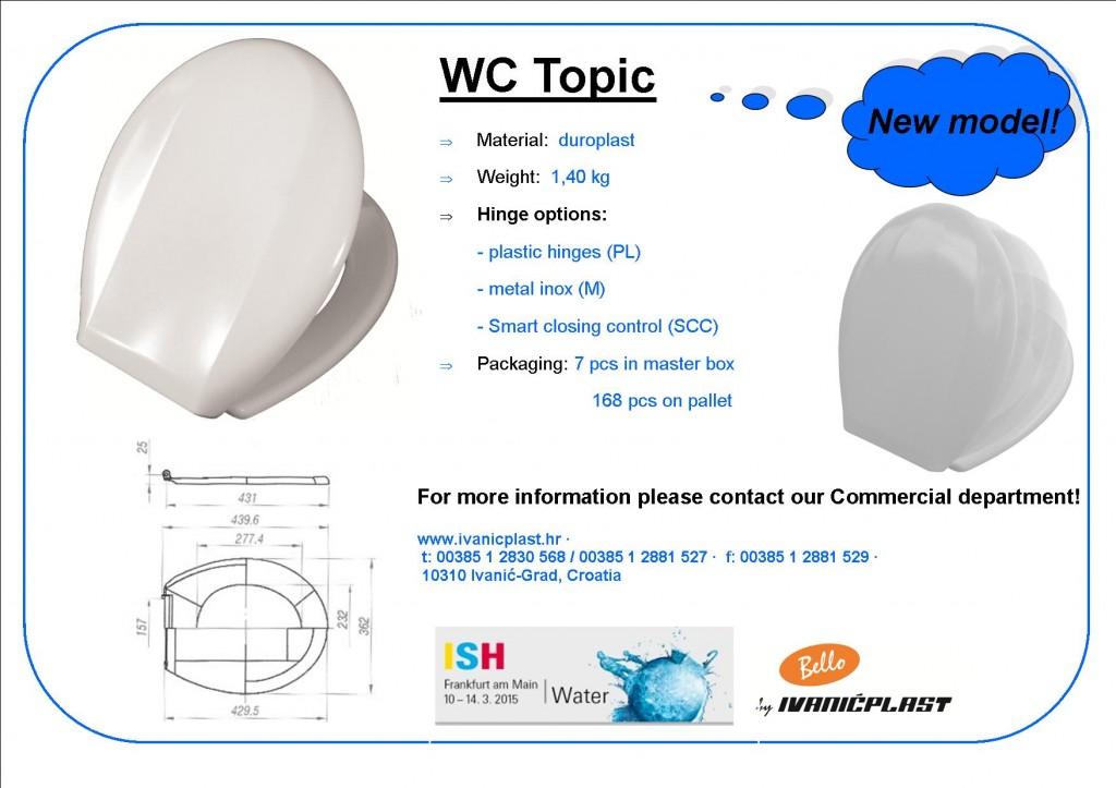 Topic - brand new toilet seat model in product range of Ivanićplast