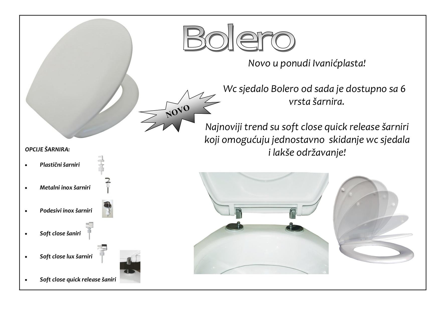 WC sjedalo / WC daska Bolero i Nika